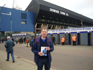 Me outside Portman Road before ITFC vs Hull 130413